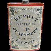 Dupont Gunpowder Tin