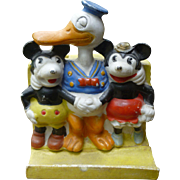 Disney Toothbrush Holder - Mickey Mouse, Minnie Mouse, And Long Billed Donald Duck