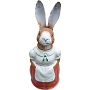 Precious Mrs. Rabbit German Candy Container