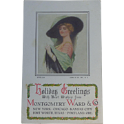 Early Montgomery Ward Holiday Greetings Trade Card