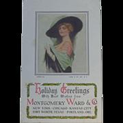 Early Montgomery Ward Holiday Greetings Trade Card