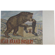 Bear Brand Hosiery Advertising Postcard