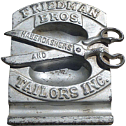 Unique Cast Advertising Pin Tray - Friedman Bros. Haberdashers and Tailors Inc.