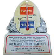 Farm Hatchery Advertising Thermometer