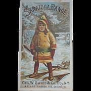 Saratoga Range Victorian Trade Card