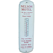 Vintage Nelson Motel Advertising Thermometer