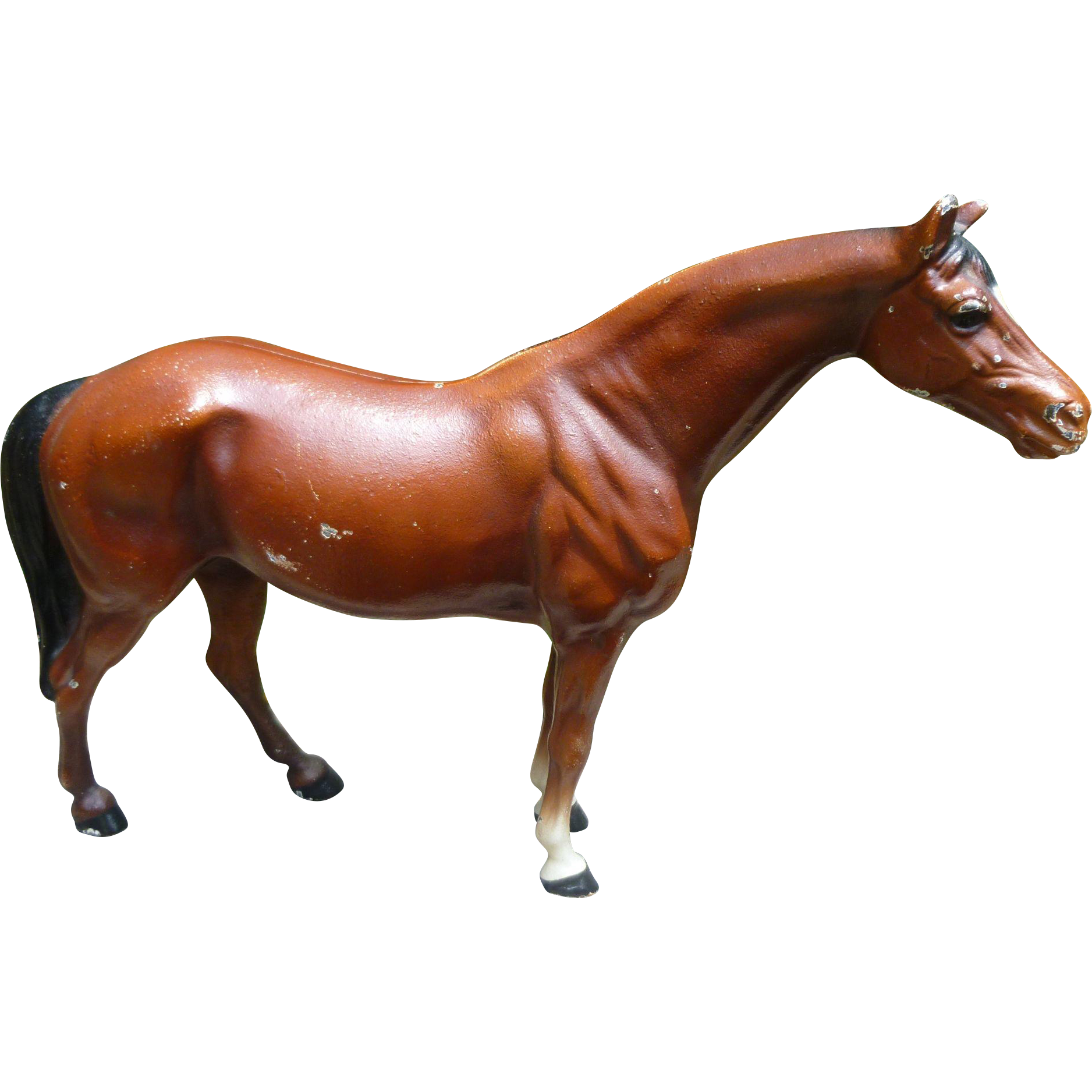 Vintage original hubley fox terrier 381 full figured large art statue - Hubley Cast Iron Horse Doorstop