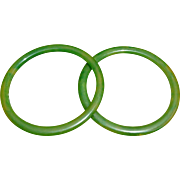 Bakelite Spacer Bangle Bracelets