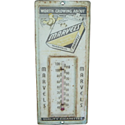 Marvels Cigarettes Advertising Thermometer