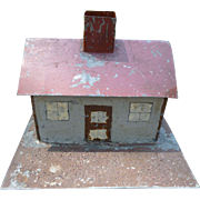 Charming Folk Art Doll Train Tin House