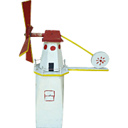 Folk Art Lighthouse Whirligig