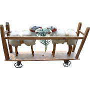 Wooly Putz Sheep Platform Pull Toy