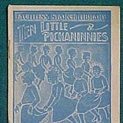 Antique Faultless Starch Ten Little Pickaninnies Premium Booklet