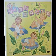 1958 4 Baby Dolls Uncut Paper Dolls