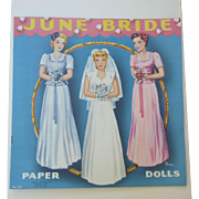June Bride Uncut Paper Dolls