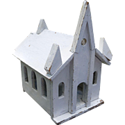 Charming Folk Art Wooden Church