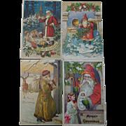 Santa Claus Christmas Postcards Belsnickle