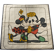 Walt Disney Productions Needlework Mickey Mouse Pillow Case Cover