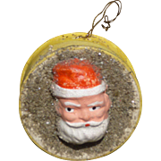Two Santa Faces Candy Container Box Christmas Ornament