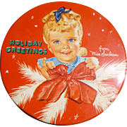 Miss Sunbeam Sunbeam Bread Christmas Tin
