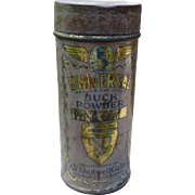 For White And Colored Kids Buck Powder Tin