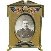 Cast Iron Military Picture Frame