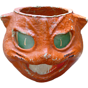 Paper Mache Cat Halloween Lantern