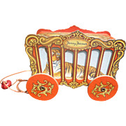 Fanny Farmer Circus Wagon Candy Container Pull Toy