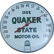 Quaker State Motor Oil Advertising Thermometer