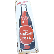 Red Rock Cola Porcelain Advertising Door Push