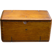 Unusual Wood Box Patented 1889