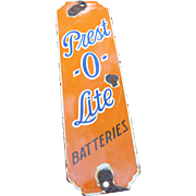 Prest-O-LIte Batteries Porcelain Advertising Door Push