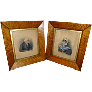 Fine 19th Century Pair Of Portrait Miniatures