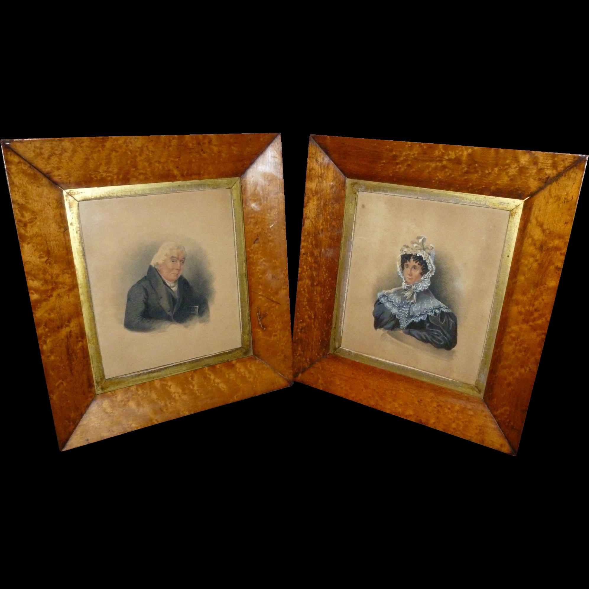 Fine 19th Century Pair Of Portrait Miniatures