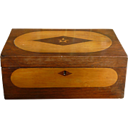 Gorgeous Inlaid Wood Document Box