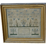 1822 Needlework Sampler Wrought By A Seven Year Old