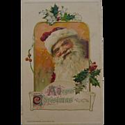 John Winsch Smiling Santa Christmas Postcard
