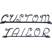Wrought Iron Tailor Trade Sign