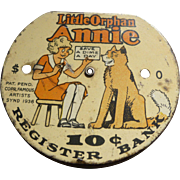 Little Orphan Annie Dime Register Bank