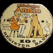 Little Orphan Annie Dime Register Bank