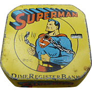 Superman Dime Register Bank