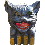 Pulp Cat On A Fence Halloween Lantern