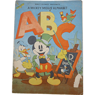 Walt Disney Presents A Mickey Mouse Alphabet Children's Book