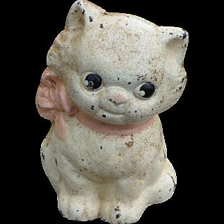 Precious Hubley Cast Iron Kitten Bank
