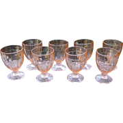 Pink Depression Glass 3 oz. Cordials - Set Of 8