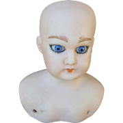 Pretty Bisque Shoulder Head Doll