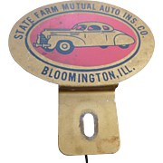 State Farm Insurance Advertising License Plate Topper