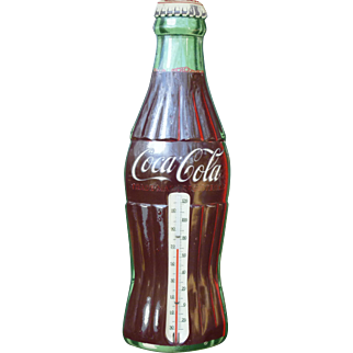 Coca Cola Advertising Bottle Thermometer