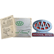 AAA National Award Trunk Emblem In Original Box