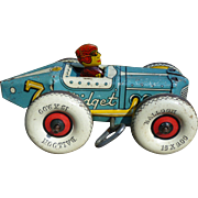 Marx Blue Number 7 Midget Racer Wind Up Toy